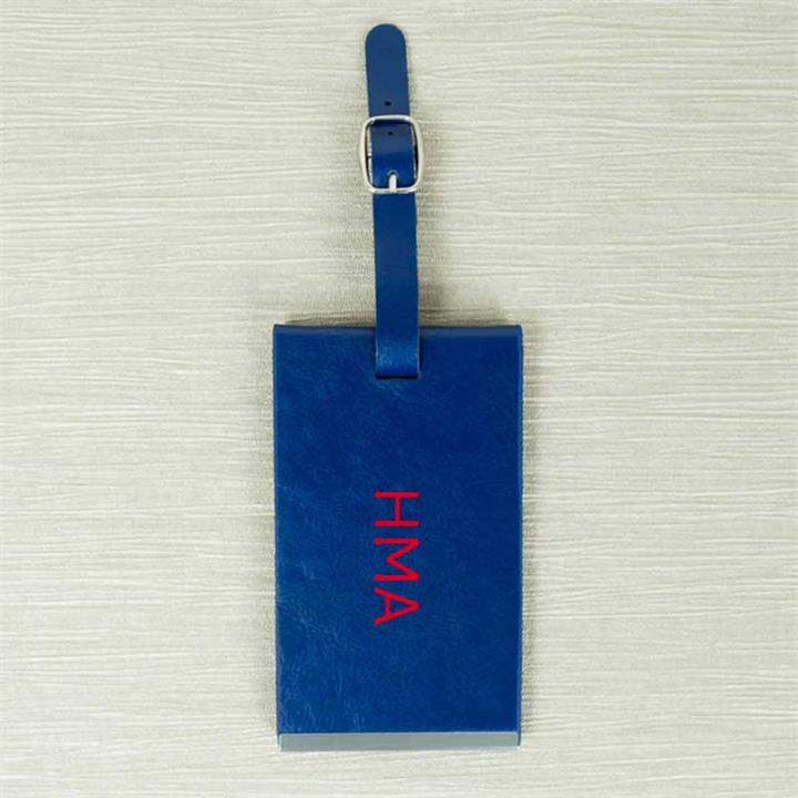 Blue Luggage Tag With Initials