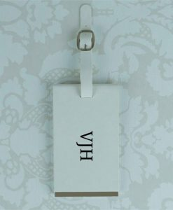 White Luggage Tag With Initials