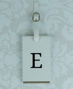 White Luggage Tag With Personalised Initials