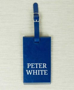 Personalised Name Blue Luggage Tag