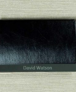 Engraved Name Black Card Holder