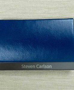 Engraved Name Blue Card Holder