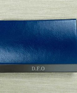Engraved Initials Blue Card Holder