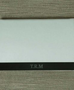 Engraved Initials White Card Holder