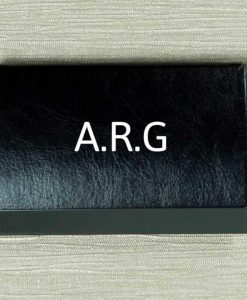 Personalised Initials Black Card Holder