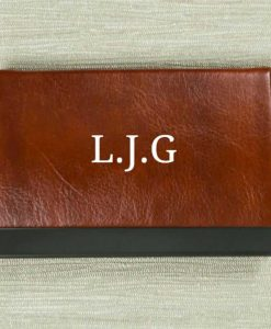 Personalised Initials Brown Card Holder