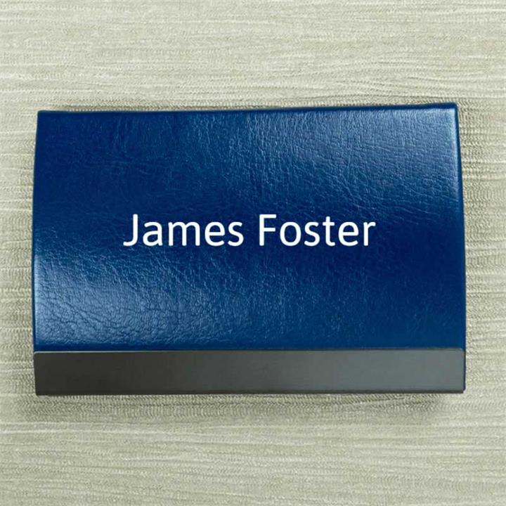 Personalised Name Blue Card Holder
