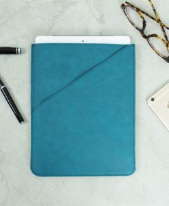 Teal Faux Leather Tablet Case