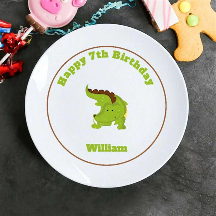 Cranky Crocodile Personalised Plate