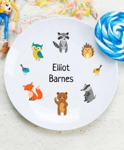 Woodland Inspired Personalised Plate