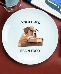 Academic Dog Personalised Plate
