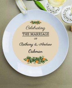 Personalised Rustic Wedding Plate