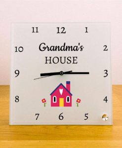 Special House Personalised Square Glass Clock