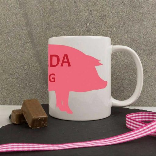 Personalised Red TEAPIG Mug