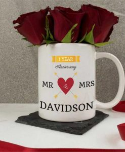 Personalised Ceramic Mug - Anniversary Celebration