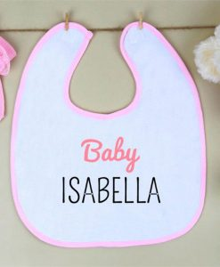 Baby Girl Personalised Bib
