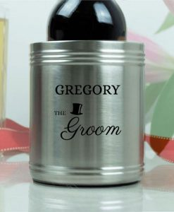 The Groom's Personalised Stubby Holder