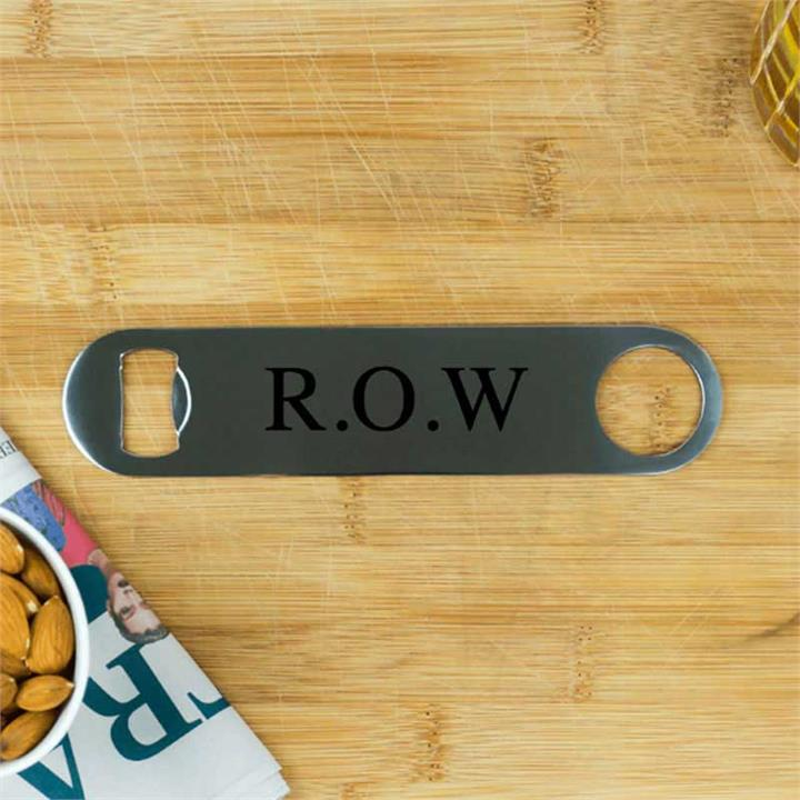 Initials Personalised Stainless Steel Bottle Opener