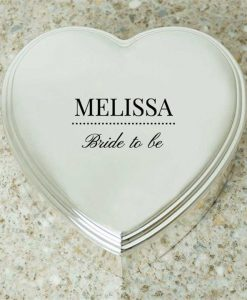Bride To Be Heart Shaped Trinket