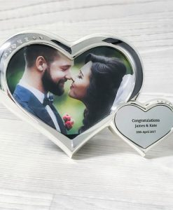 Personalised Hearts Photograph Frame