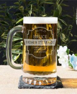 Glass Tankard For The Father Of The Bride