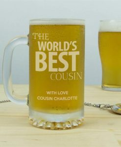 The World's Best Personalised Glass Tankard