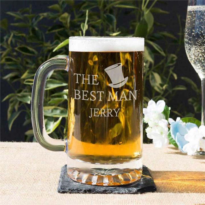 Personalised Beer Tankard For The Best Man