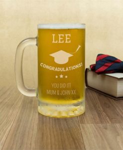 The Graduate's Personalised Glass Tankard
