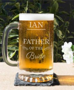 The Father Of The Bride Or Groom Glass Tankard