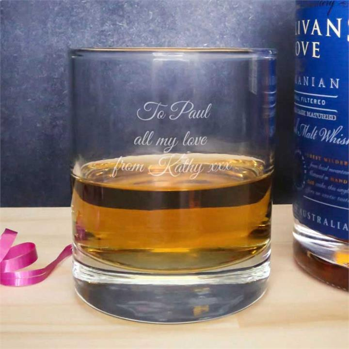 Personalised Message Classic Whisky Glass