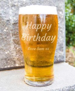 Any Occasion Personalised Beer Glass