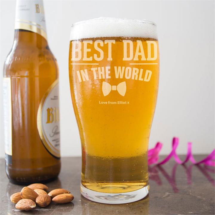 The Best Dad's Pint Glass