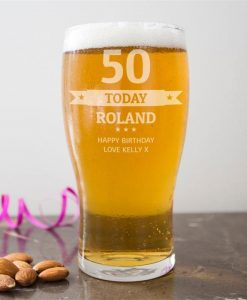 Personalised 'Today' Pint Glass