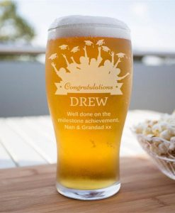 Personalised Congratulatory Beer Glass