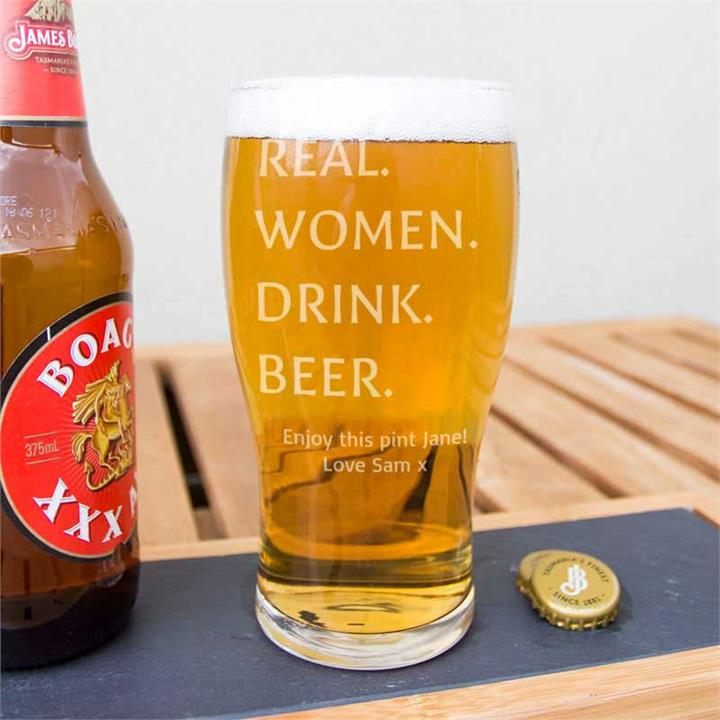 The Pint Glass for Real Women