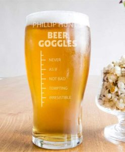 Beer Goggles Scale Pint Glass