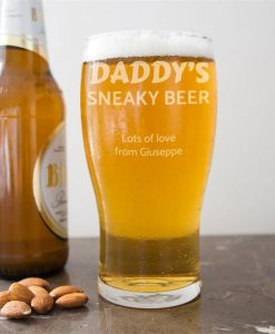 Daddy's Sneaky Beer Glass
