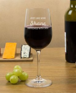 Better With Age Personalised Wine Glasses