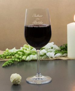 Father of the Bride Personalised Wine Glasses