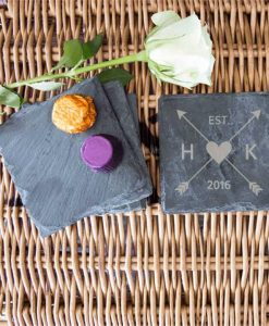Personalised Love Arrow Slate Coasters