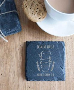 Tea Lovers Personalised Slate Coasters