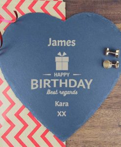 Birthday Present Personalised Slate