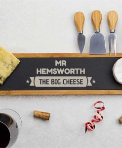 The Big Cheese Banner Slate Serving Board