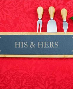 His & Hers Slate Serving Board