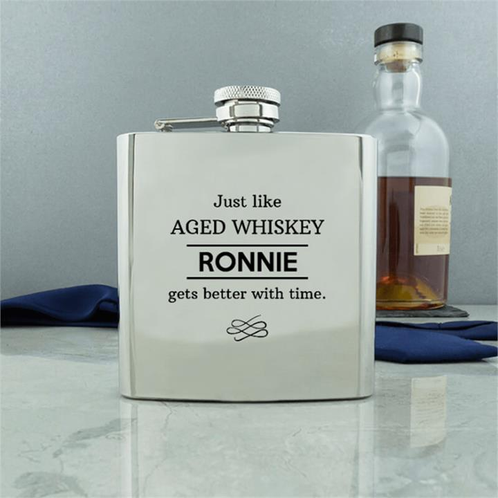 Aged Conventional Hip Flask