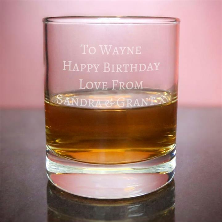 Personalised Message Whisky Tumbler