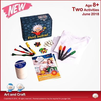 CreativKits for kids (2 Craft Activities/ month) Magazine 12 Month Subscription