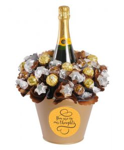 You're in my thoughts Luxury Veuve Chocolate Bouquet