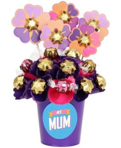 'Number One Mum' Blush Small Chocolate Bouquet