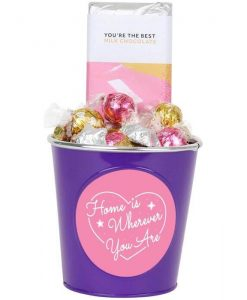 'Home is Wherever You Are' Choc Block Bucket
